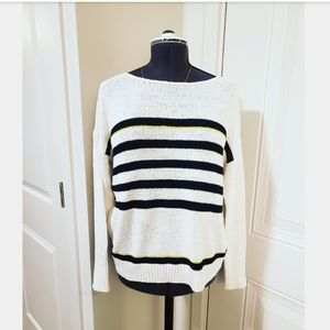 Loft Striped Knit Sweater